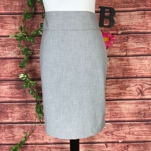 The Limited Collection Skirt 10 Gray Straight Knee